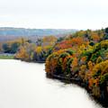 Fall Foliage In Hudson River 13 by Jeelan Clark