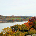Fall Foliage In Hudson River 5 by Jeelan Clark