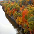 Fall Foliage In Hudson River 6 by Jeelan Clark