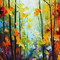 Fall Forest by Leonid Afremov