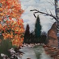 Fall In The Mountains by Ken Farnsworth