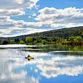 Fall Kayaking Reflection Landscape by Christina Rollo