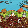 Fall Kitties by Connie Kottmann