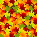 Fall Leaves Quilt by Anastasiya Malakhova
