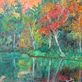 Fall Reflections At Peaks Of Otter Stage Two by Kendall Kessler