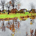 Fall Reflections by Yury Malkov