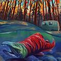 Fall Salmon Fishing by Sassan Filsoof