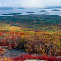 Fall Scenic View Of Bar Harbor by George Oze