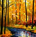 Fall Stream by Leonid Afremov