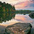 Fall Sunset Over Bear Pond by Darylann Leonard Photography