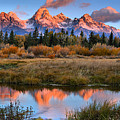 Fall Teton Tip Reflections by Adam Jewell