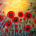 Fall Time Poppies  by Luiza Vizoli