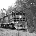 Fall Train In Black And White by Rick Morgan