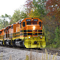 Fall Train In Color by Rick Morgan