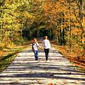 Fall Walk In The Woods by Randy Steele