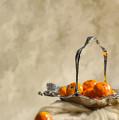 Falling Oranges by Amanda Elwell
