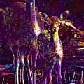 Fallow Deer Doe Fawn Hirsch Young  by PixBreak Art