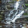 Falls Creek Gorge Trail Ithaca New York by Karen Jorstad