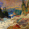Falls - Montreal River by Mountain Dreams