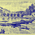 Falls Of The Schuylkill And Fort St Davids 1794 by Bill Cannon