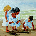 Family At The Beach by Inna Montano
