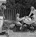 Family Bbq, C.1960s by H. Armstrong Roberts/ClassicStock