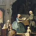 Family Group Near A Harpsichord, 1739 by Cornelis Troost