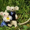 Family Mouse On The Spring Meadow .1. by Heike Hultsch