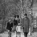 Family Out Walking On A Wintry Day by H. Armstrong Roberts/ClassicStock
