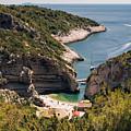 Famous Stiniva Beach by Viktor Pravdica