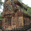 Famous Temple Banteay Srei Cambodia Asia  by Chuck Kuhn