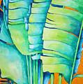 Fan Palm With Orange 2 by Helen Weston