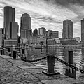 Fan Pier Boston Harbor Bw by Susan Candelario