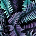 Fanciful Ferns In Purple by Patricia Strand