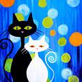 Fancy Cats by Art by Danielle