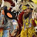 Pow Wow Fancy Dancers 7 by Bob Christopher
