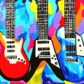 Fancy Guitars by Art by Danielle