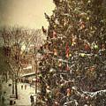 Faneuil Hall Christmas Tree - Boston Ma by Joann Vitali