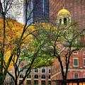 Faneuil Hall In Fall - Boston Scenes by Joann Vitali