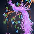 Fantasy Feather Bird by Jo Hoden