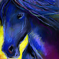 Fantasy Friesian Horse Painting Print by Svetlana Novikova