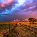 Far And Away - Open Prairie Under Colorful Sky In Oklahoma Panhandle by Southern Plains Photography