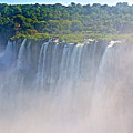 Far Side Of Devil's Throat In Iguazu Falls National Park-argentina   by Ruth Hager
