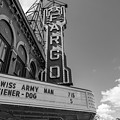 Fargo Theater Sign Black And White  by John McGraw