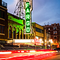 Fargo Theatre And Downtown Buidlings At Night by Paul Velgos