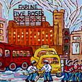 Farine Five Roses Montreal 375 Hometown Hockey Hotel Bonaventure Tour Bus Canadian Art C Spandau Art by Carole Spandau