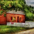 Farm - Barn - A Small Farm House  by Mike Savad