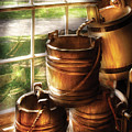 Farm - Pail - A Pile Of Pails by Mike Savad