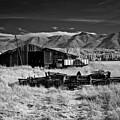 Farm Building In Infrared by Lee Santa