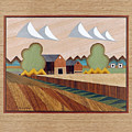 Farm By Ripon-marquetry by Bruce Bodden